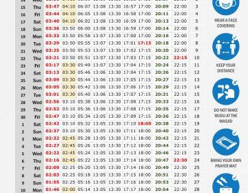 Ramadan Calendar IB 2021